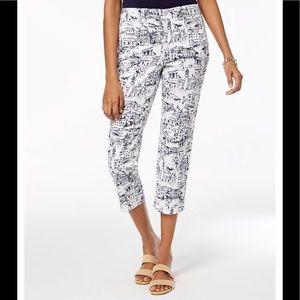 Charter Club Pants - Charter Club Bristol Nautical Themed Capri